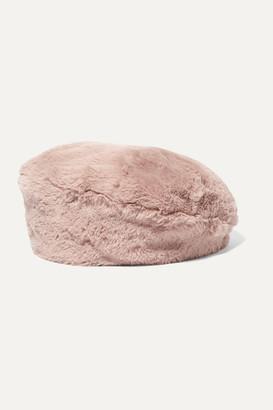 Eugenia Kim Mishka Faux Fur Beret - Baby pink