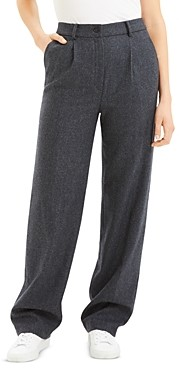 Theory Wool-Blend Pleated Pants - 100% Exclusive