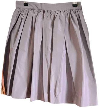 Miu Miu Purple Silk Skirts