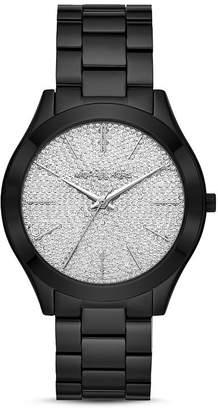 Michael Kors Runway Slim Silver Pavé Dial Link Bracelet Watch, 42mm