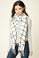 Forever 21 FOREVER 21+ Plaid Oblong Scarf