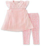 Calvin Klein Two-Piece Pleated Tunic and Capris Set