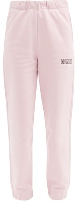 Ganni Software Recycled Cotton-blend Track Pants - Pink