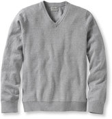 L.L. Bean Bird's-Eye Cotton/Cashmere Sweater, V-Neck