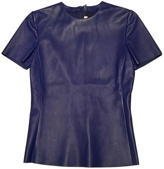 Celine Blue Leather Top for Women