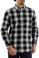 Haggar Long Sleeve Flannel Plaid Shirt