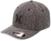 Hurley Men's Black Suits Outline Embroidered-Logo Hat