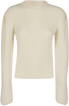 Lemaire White Wool Jumper