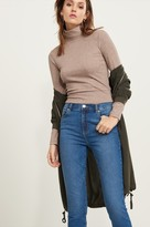 Dynamite Cropped Long Sleeve Ribbed Knit Top