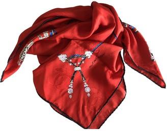 Cartier Red Silk Scarves