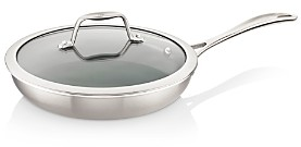 Zwilling J.A. Henckels Spirit 2-Piece Stainless Steel Ceramic Nonstick 9.5 Fry Pan with Lid Set