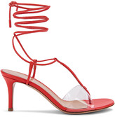 Gianvito Rossi Plexi Strappy Sandals in California & Transparent | FWRD