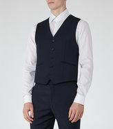 Reiss Reiss Monarch W - Modern-fit Waistcoat In Blue, Mens