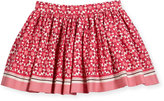 Kate Spade Smocked Floral Tile Skirt, Multicolor, Size 7-14