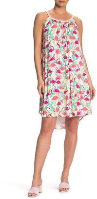Nina Leonard Braided Strap Shift Dress