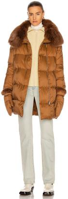 Yves Salomon Puffer Coat in Caramel | FWRD