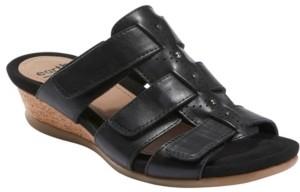 Earth Women's Pisa Harwich Low Wedge Slide Sandal Women's Shoes