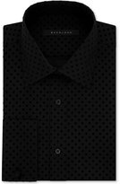 Sean John Men's Fitted Tailored-Cut Black Dot French Cuff Dress Shirt
