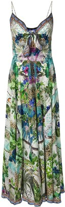 Camilla Moon Garden tie front maxi dress