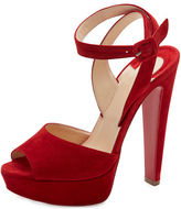 Christian Louboutin Louloudancing Platform Red Sole Sandal