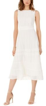 Taylor Embroidered Eyelet-Trim Dress