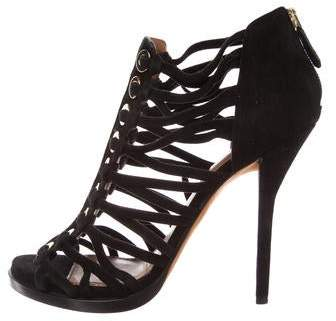 Givenchy Suede Cage Sandals