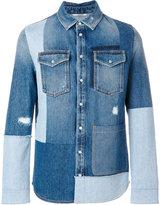 Valentino patchwork denim shirt