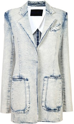Proenza Schouler Acid Wash Denim Blazer