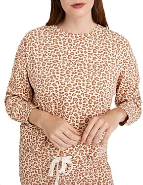 Alternative Animal Print Cropped Pullover Sweatshirt
