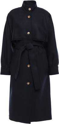 Victoria Beckham Wool-blend Twill Trench Coat
