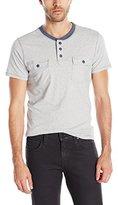 Paper Denim & Cloth Men's Harvey Short Sleeve Pocket Henley