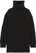 Acne Studios Disa Oversized Ribbed Wool Turtleneck Sweater - Black
