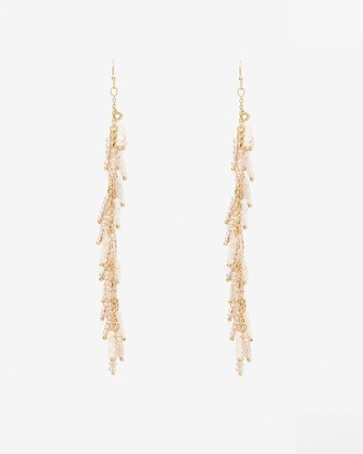 Express Linear Beaded Drop Earrings