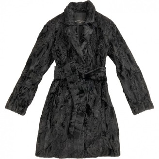 Astrakhan Non Signé / Unsigned Non Signe / Unsigned \N Black Coat for Women