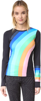 Free People Movement Rainbow Runner Top