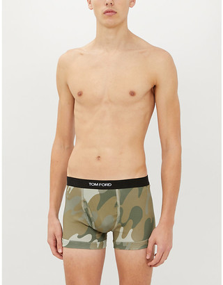 Tom Ford Camouflage stretch-cotton trunks