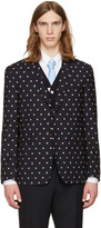 Thom Browne Navy Classic Lifesaver & Anchor Blazer