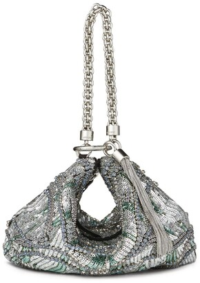 Jimmy Choo Embellished Satin Callie Bag