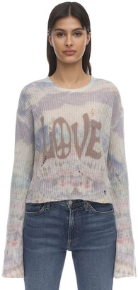 Amiri Love Tie Dye Rib Knit Sweater