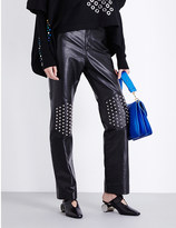J.W.Anderson Stud-embellished flared leather trousers