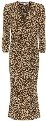 Veronica Beard Arielle stretch-silk midi dress