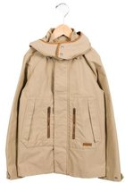 Gucci Boys' Leather-Trimmed Hooded Jacket
