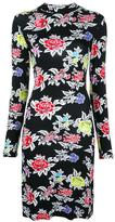 House of Holland rose pattern fitted dress