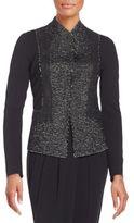 Donna Karan Tweed Needlepunch Jacket