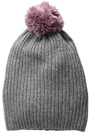 a7034f3be Lightweight Rib Watch Cap with Knit Pom