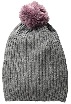Hat Attack Lightweight Rib Watch Cap with Knit Pom