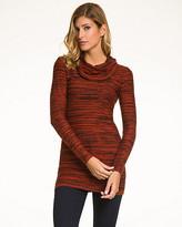Le Château Tweed Cotton Blend Cowl Neck Sweater