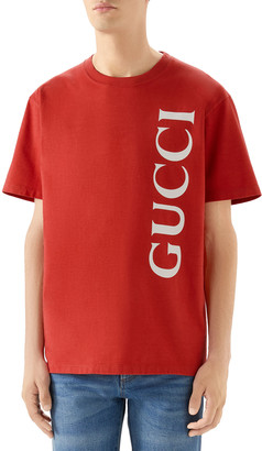 Gucci Men's Logo Typographic T-Shirt