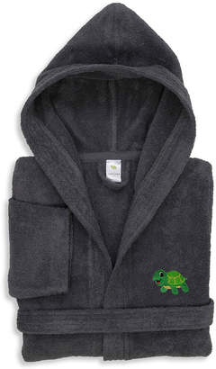 Asstd National Brand Linum Kids 100% Turkish Cotton Hooded Terry Bathrobe - Turtle