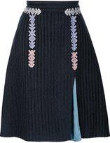 Peter Pilotto velvet striped skirt